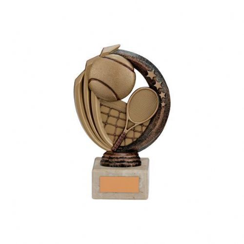 Renegade Tennis Legend Award Antique Bronze & Gold 150mm